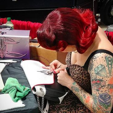 Trisha at work