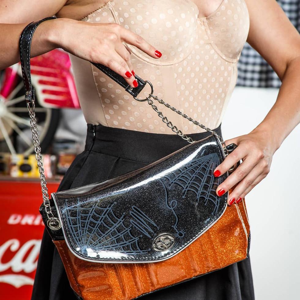 Halloween inspired bag. Model: Paige Rush