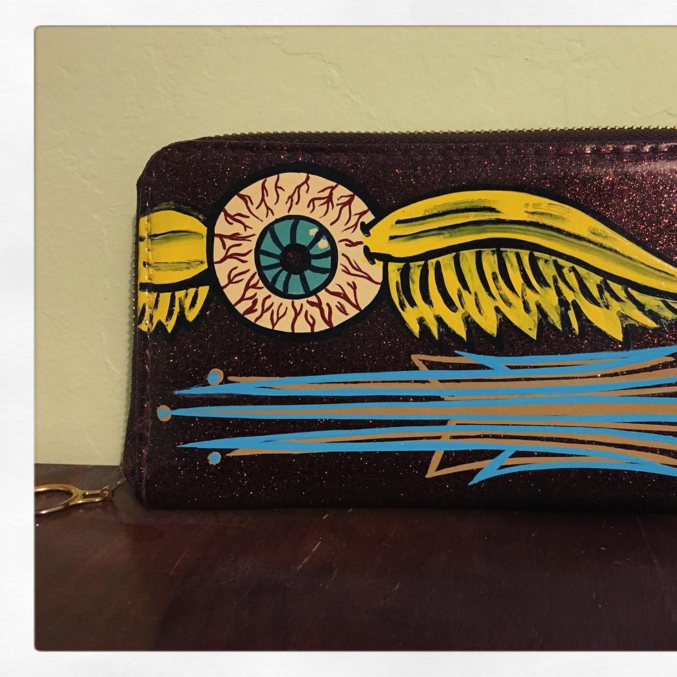 Flying Eyeball wallet