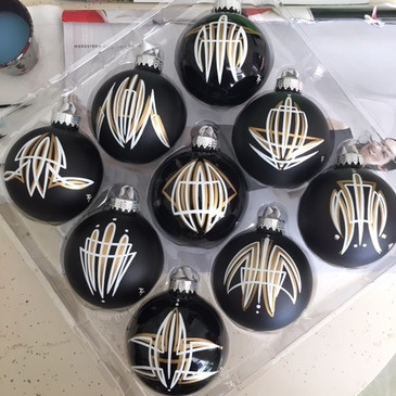 Satin Black Ornaments