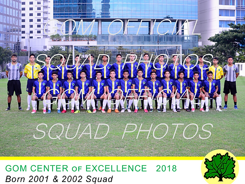 2001 & 2002 OFFICIAL SQUAD PHOTO 2018