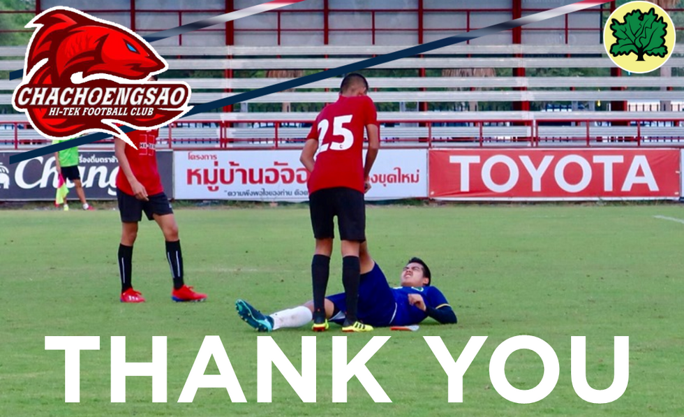 THANK YOU CHACHOENGSAO HI-TEK U15s 2019.