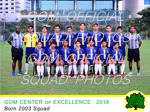 2003 OFFICIAL SQUAD PHOTO 2018