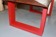 tavolino da soggiorno rosso
