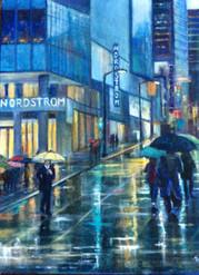 Rain on Granville Street