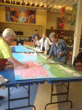 Members Painting Mural