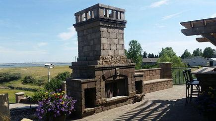 Paver Fire Place