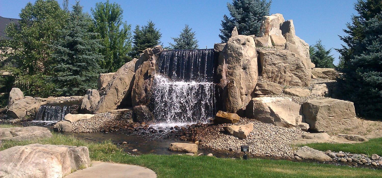 Boulder waterfall