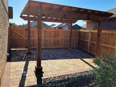 Paver patio with cedar pergola to make your outdoor space a place you want to be.