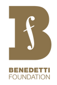 Benedetti Foundation Logo - Gold Metalli