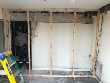 Wall down - open plan