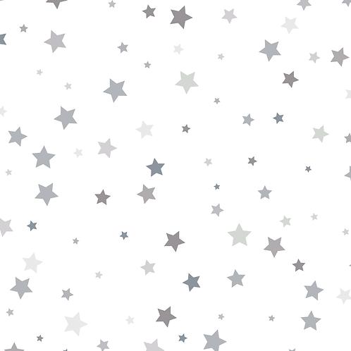 Муслиновая пеленка Звездочки серебро