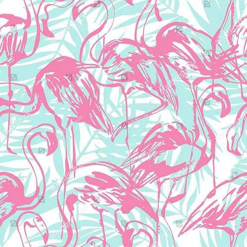 Муслиновая пеленка из бамбука Фламинго