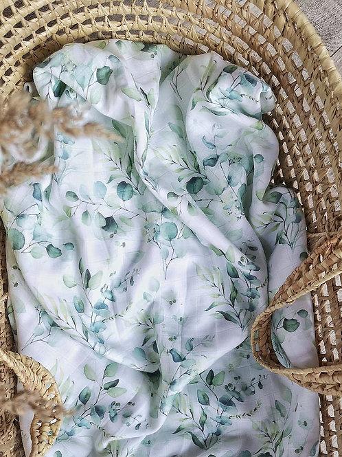 Муслиновая пеленка из бамбука Эвкалипт