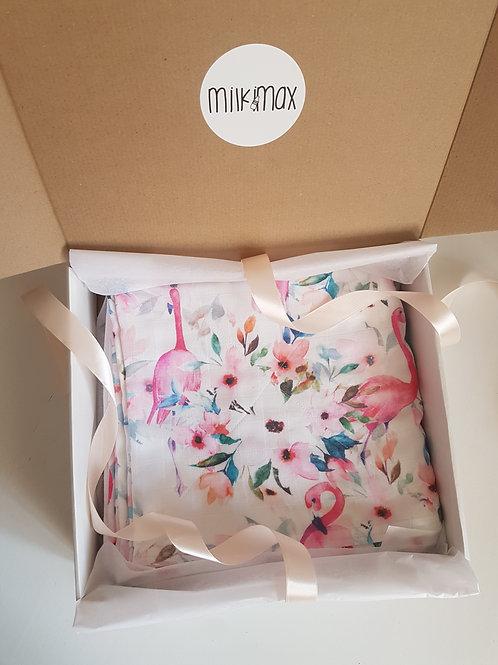 Муслиновое одеяло ПОД ЗАКАЗ 3 слоя Фламинго