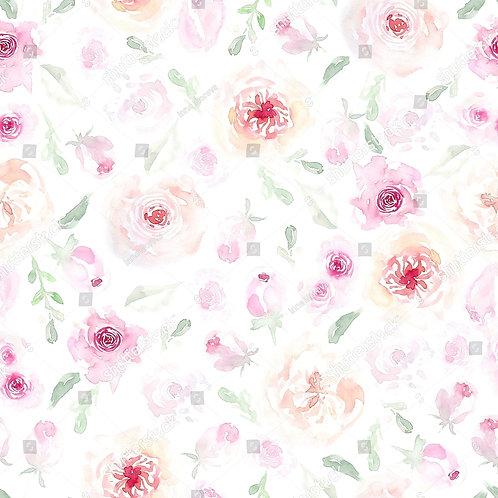 Муслиновая пеленка из бамбука Акварельные розы