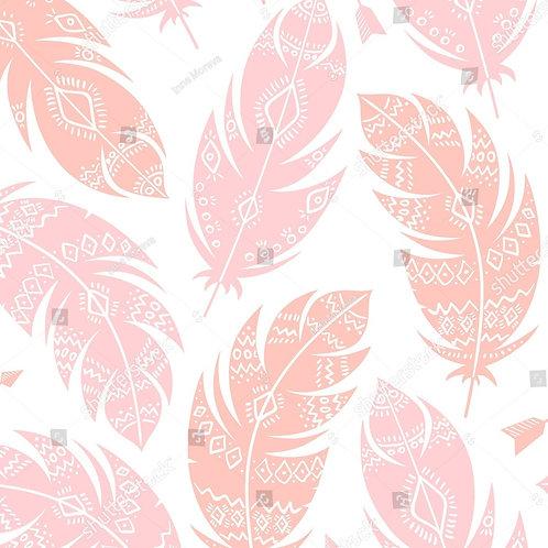 Муслиновая пеленка из бамбука Перья Розовые