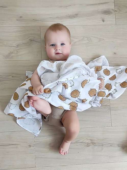 Муслиновая пеленка Молоко с печеньем