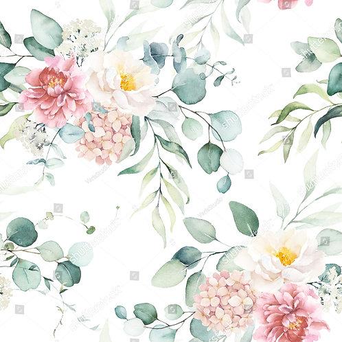 Муслиновая пеленка из бамбука Цветы