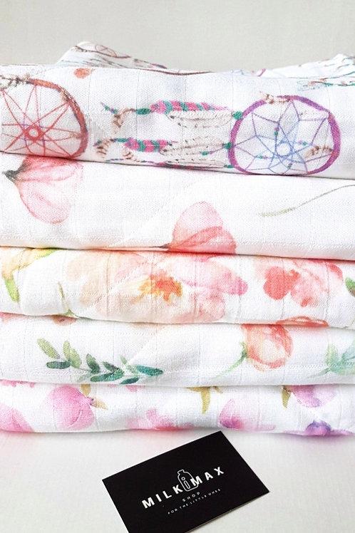 Под заказ Пошив 1-2 дня Муслиновое одеяло из бамбука, 2 слоя муслина