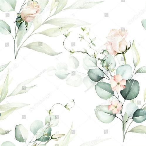 Муслиновая пеленка из бамбука Букет цветов