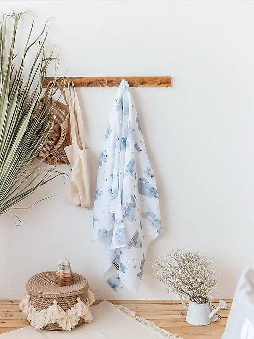 Муслиновая пеленка из бамбука Мишки