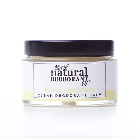 Natural Clean Deodorant Balm - Lemon & Gernanium 55g