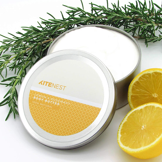 Body Butter - Lemon & Rosemary 240ml - Kite Nest
