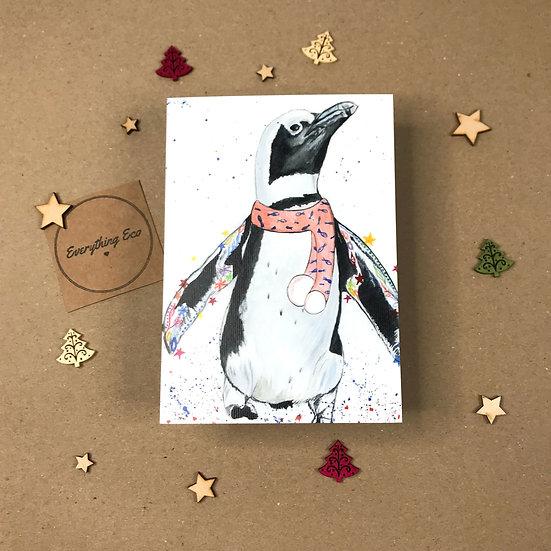 Pa Rum Pa Pum Penguin - Christmas Card