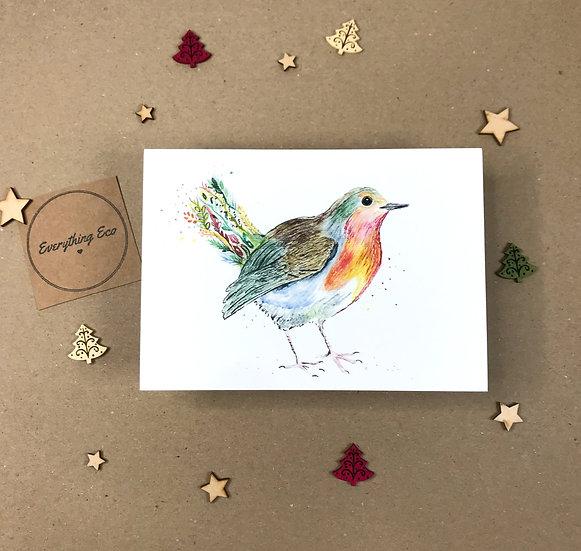 Robbie The Robin - Christmas Card