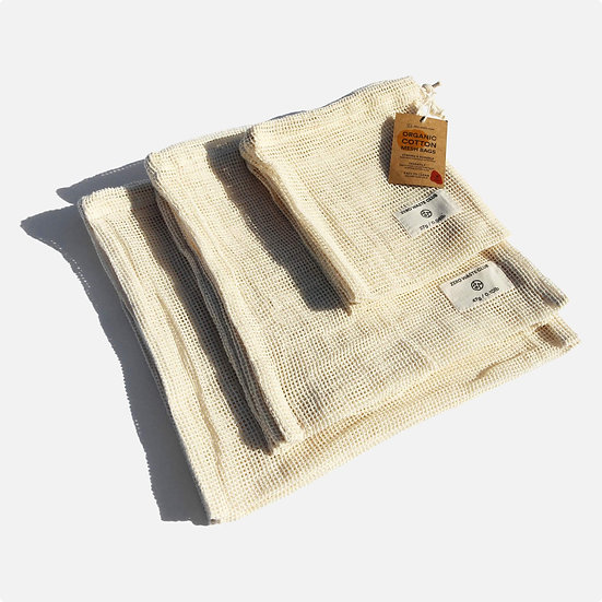 Organic Cotton Mesh Bags - Pack of 9 - ZWC