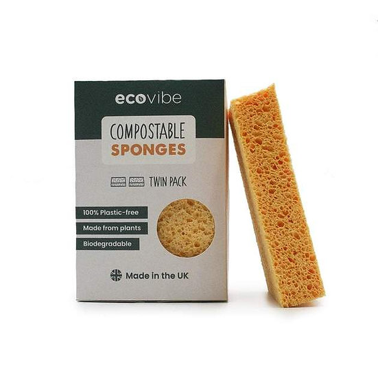 Compostable Sponges x2 Pack - Eco Vibe
