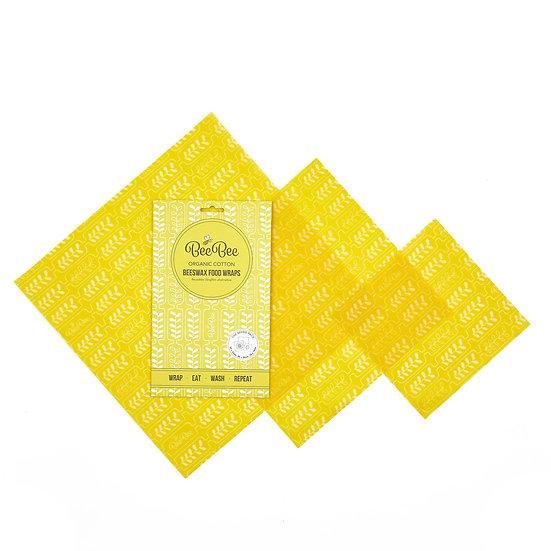Wax Wraps - Mixed Pack - Wheat - BeeBee