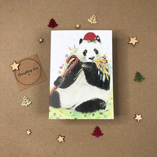 Have a Berry Merry Christmas Panda - Christmas Card