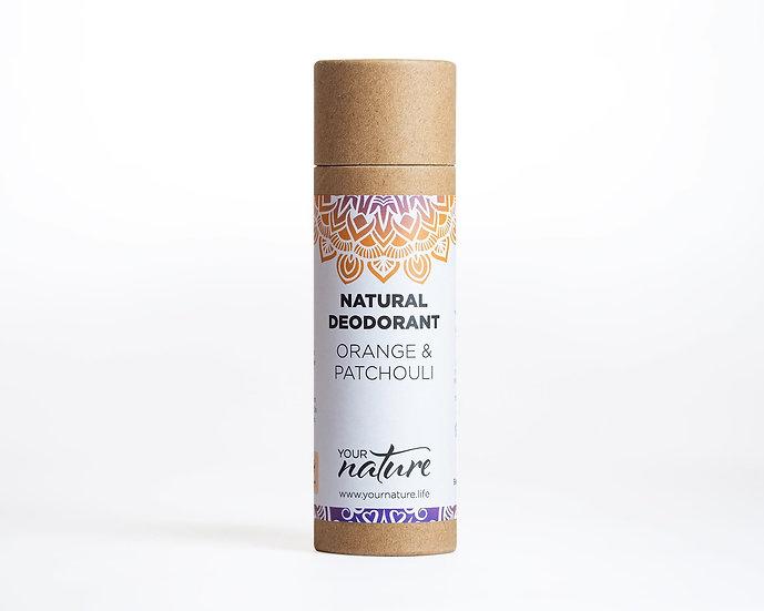 Natural Deodorant Stick -Orange & Patchouli