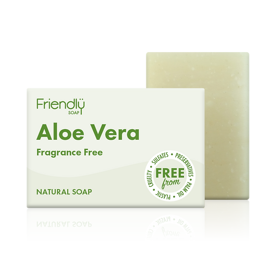 Aloe Vera Soap - Fragrance Free - Friendly Soap