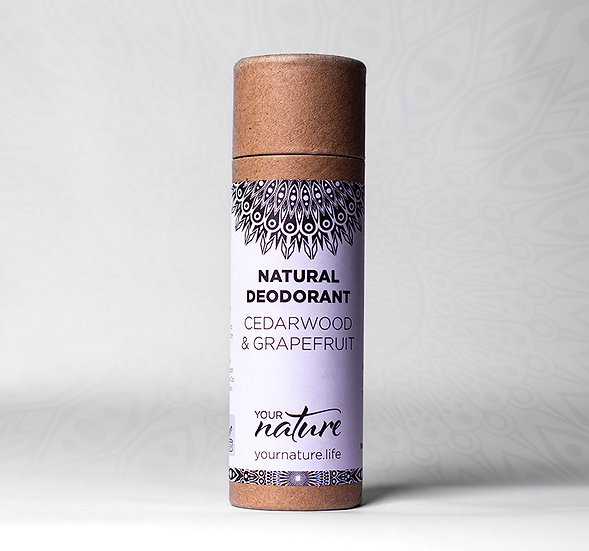 Natural Deodorant Stick - Cedarwood & Grapefruit