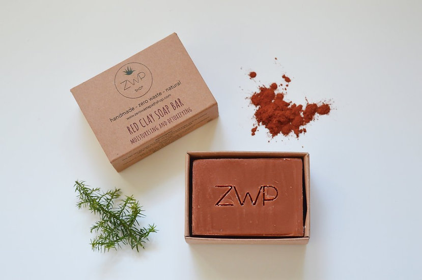 Red Clay Soap Bar - Zero Waste Path