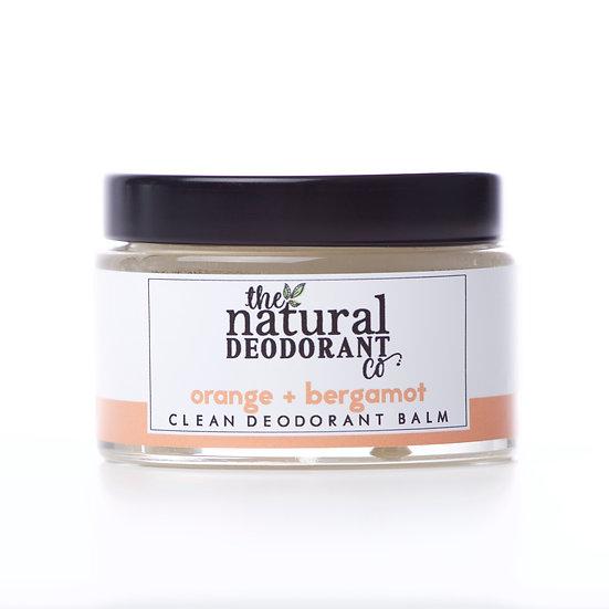 Natural Clean Deodorant Balm - Orange & Bergamot 55g