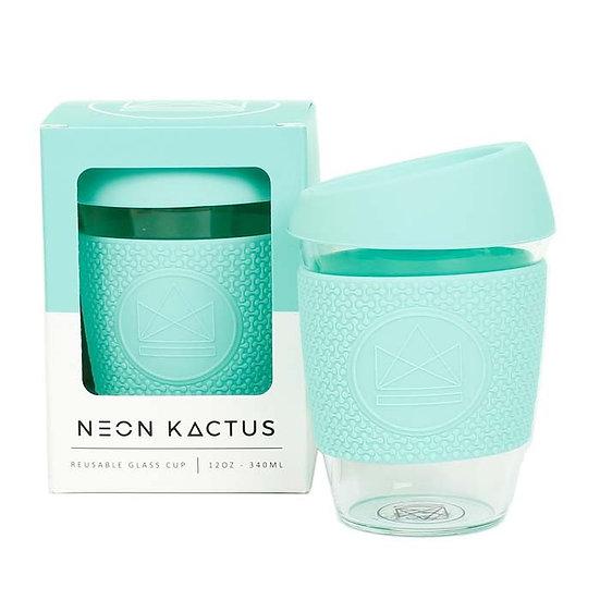 Reusable 12oz Glass Cup -  Free Spirit - Neon Kactus