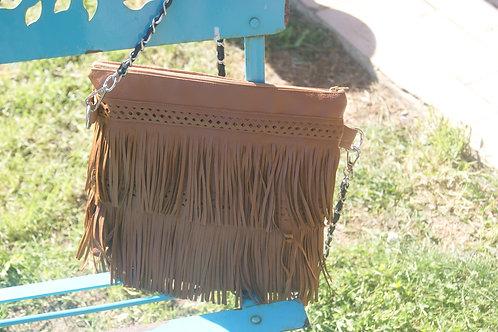 sac à franges camel