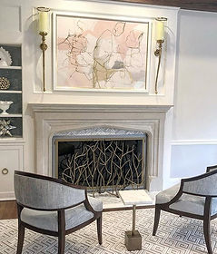 Fireplace makeover which includes new cu