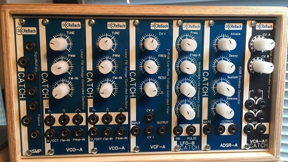ReBach Starter Set !!     Doepfer Wooden Case+2VCO   VCF+LFO+ADSR+VCA+SMP
