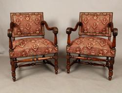 Walnut Armchairs