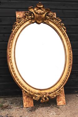 Victorian Oval Mirror