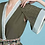 Thumbnail: Twill Kimono Dress in Ivy & Saddle