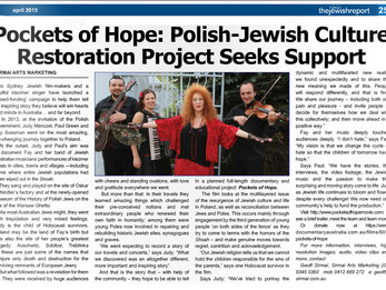 Polish-Jewish Culture Restoration Project Seeks Support