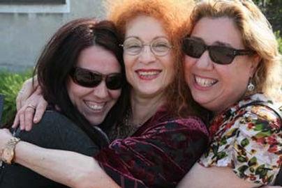 Dr Kamila Klauzinska with Fay Sussman and Judy Menczel