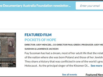 """Pockets of Hope"" is this week's Documentary Australia Foundation Featured Film"