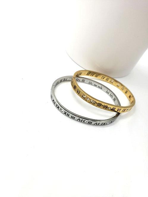 Roman numeral bangles